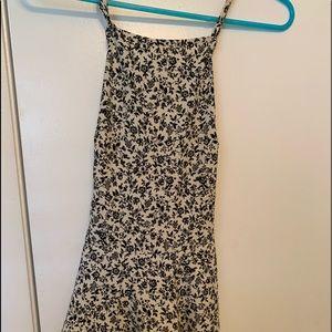 Brandy Melville crossback Halter Mini Dress